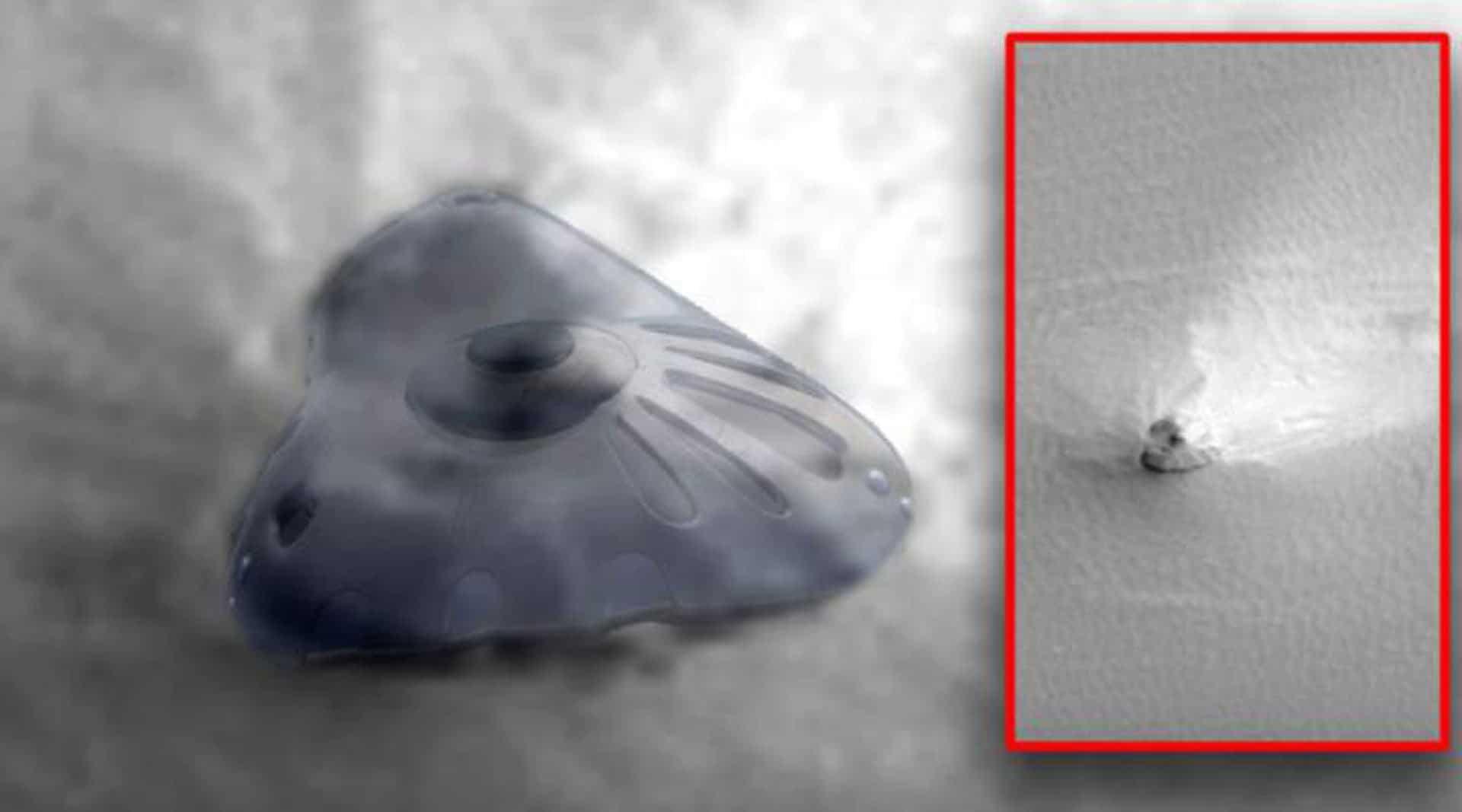 ¿Puede ser esta una antigua nave espacial estrellada en suelo marciano?