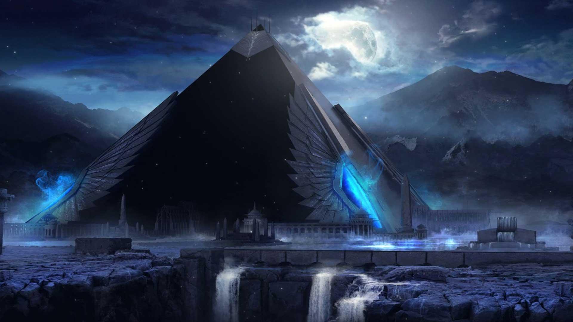 ¿Dónde está la pirámide negra representada en un manuscrito antiguo de la meseta de Giza?