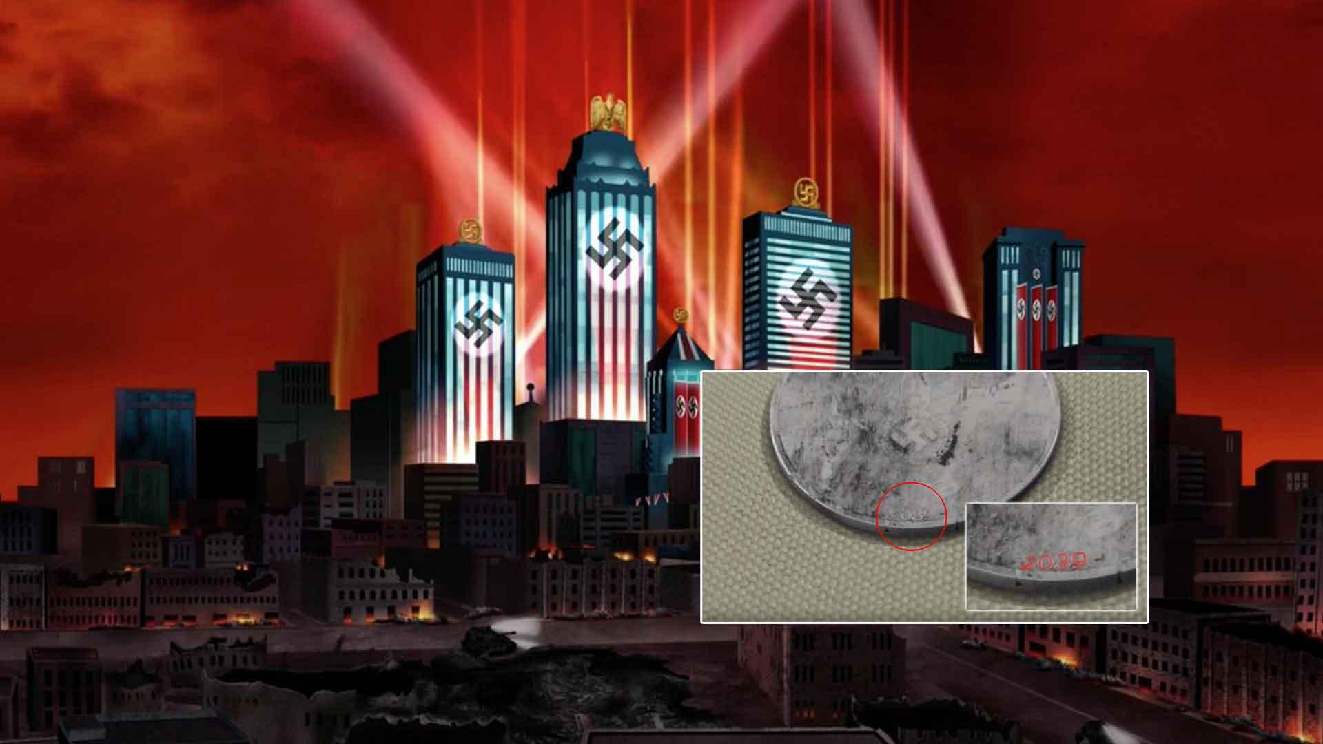 BIZARRO – ¿Viene esta moneda de un futuro distópico donde los nazis ganaron la Guerra Mundial?