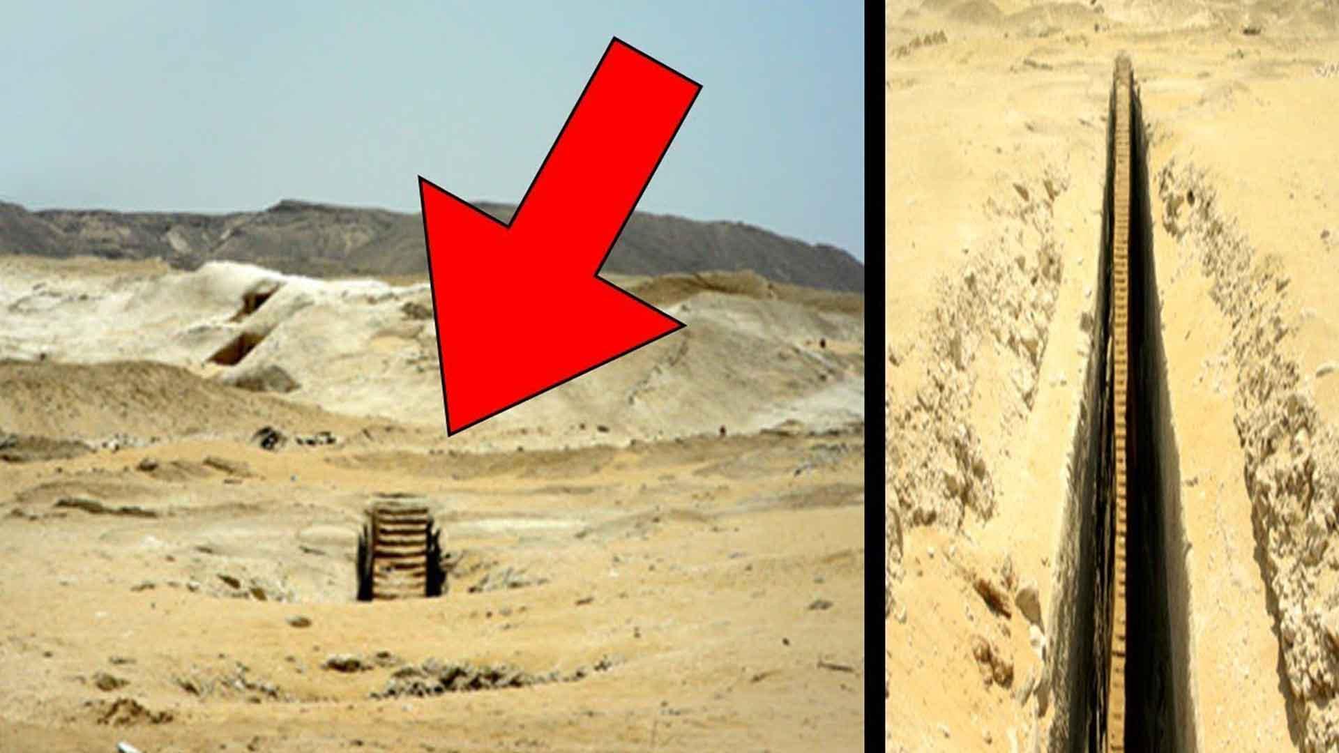Hallan una misteriosa escalera subterránea en unas ruinas en Guiza