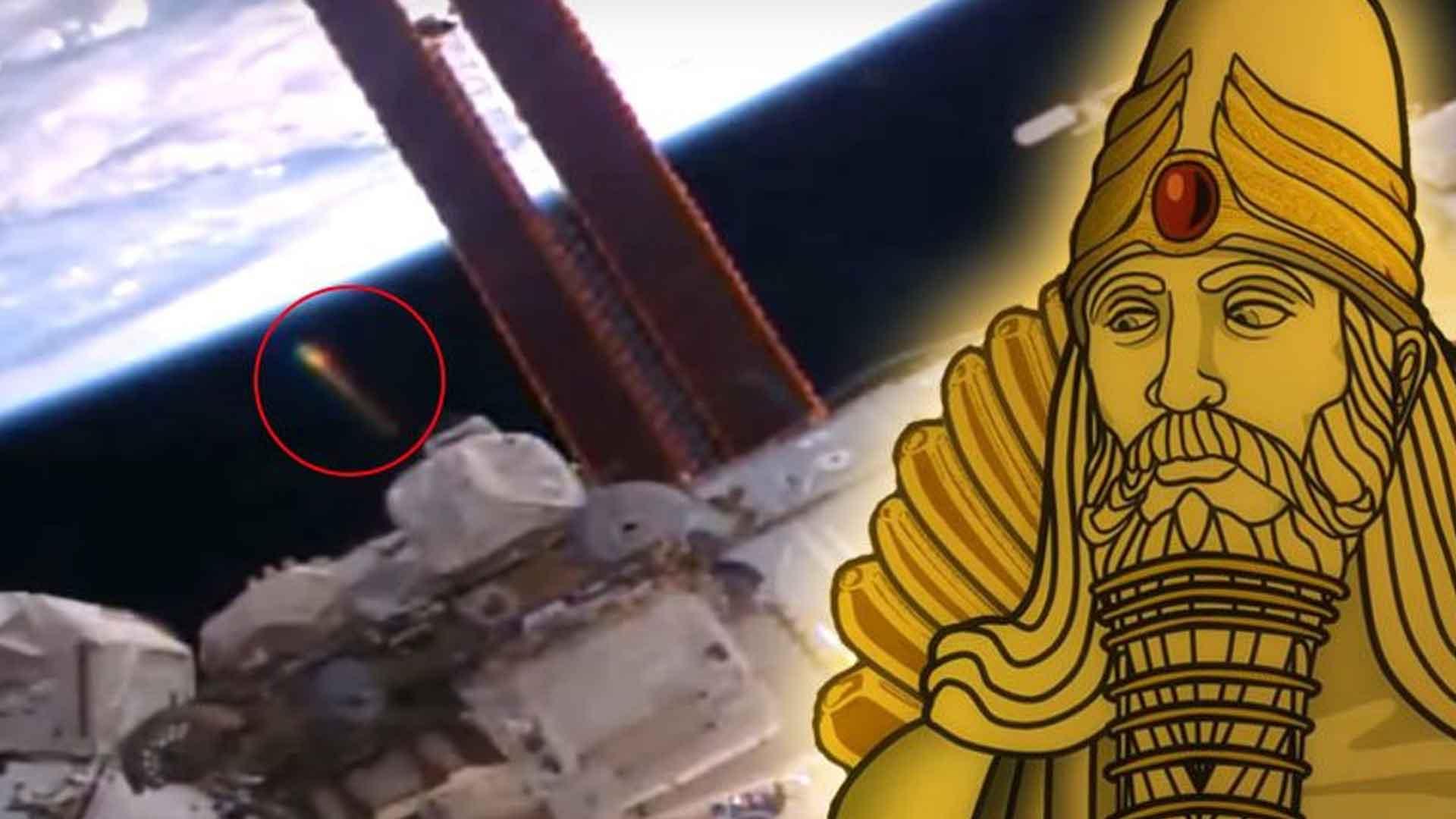 ¿Están los Anunnaki de vuelta?: Vídeo de un extraño OVNI de oro captado cerca de la EEI