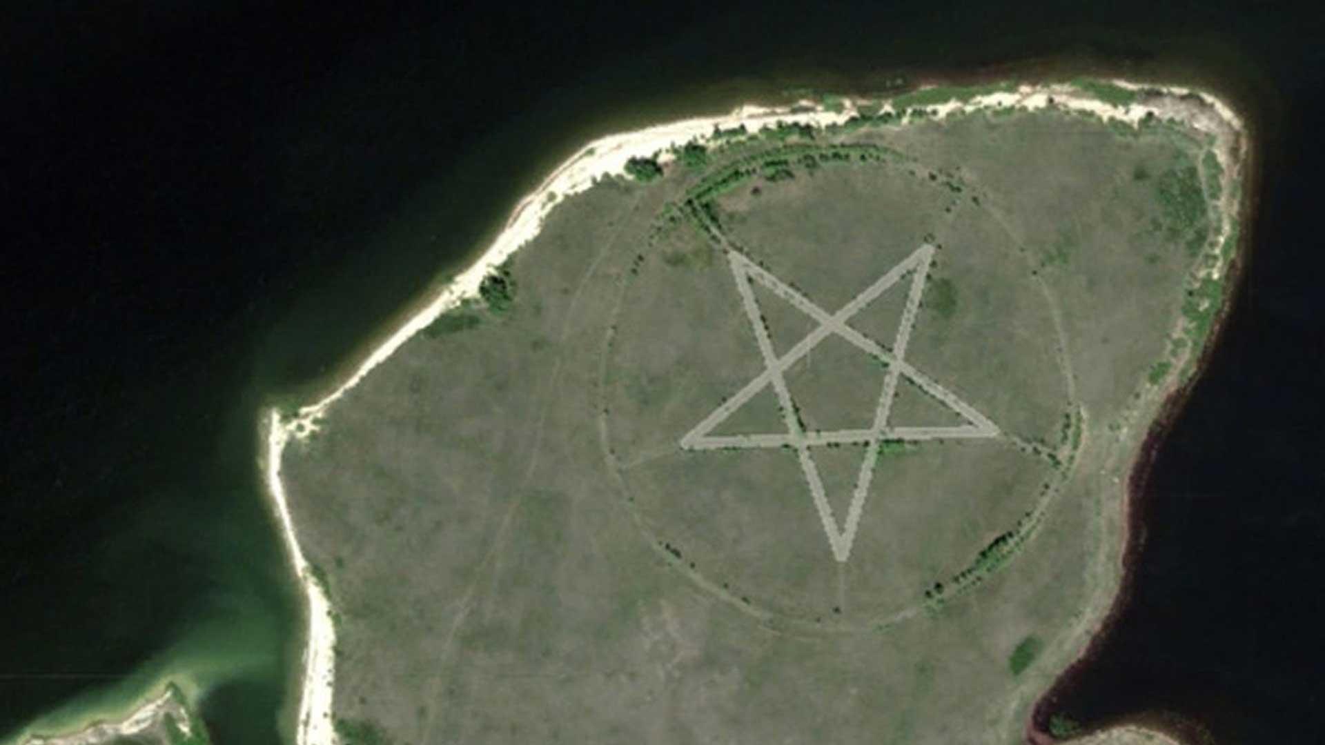 El misterio del pentagrama de Kazajstán visto desde Google Maps