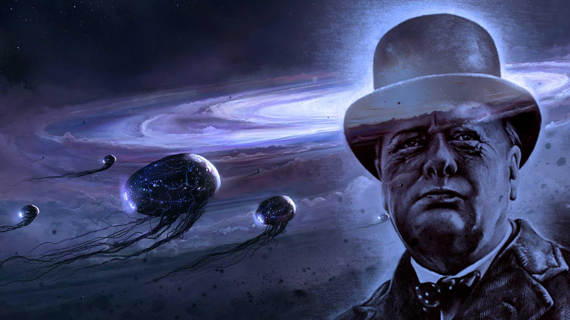 Este ensayo prueba que Winston Churchill realmente creía en los aliens