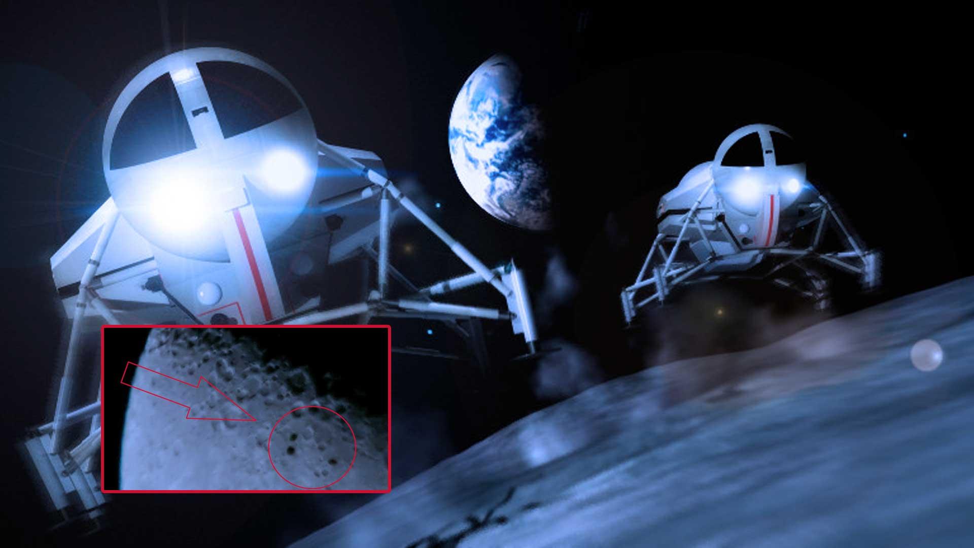 Un OVNI es captado desde la Tierra a la Luna por astrónomo