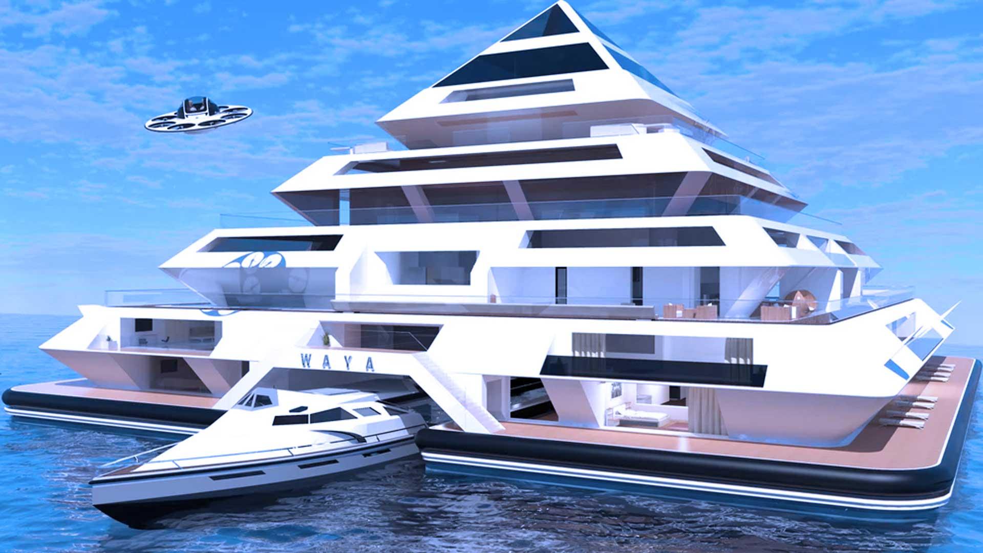 Wayaland, la ciudad futurista conformada por pirámides flotantes