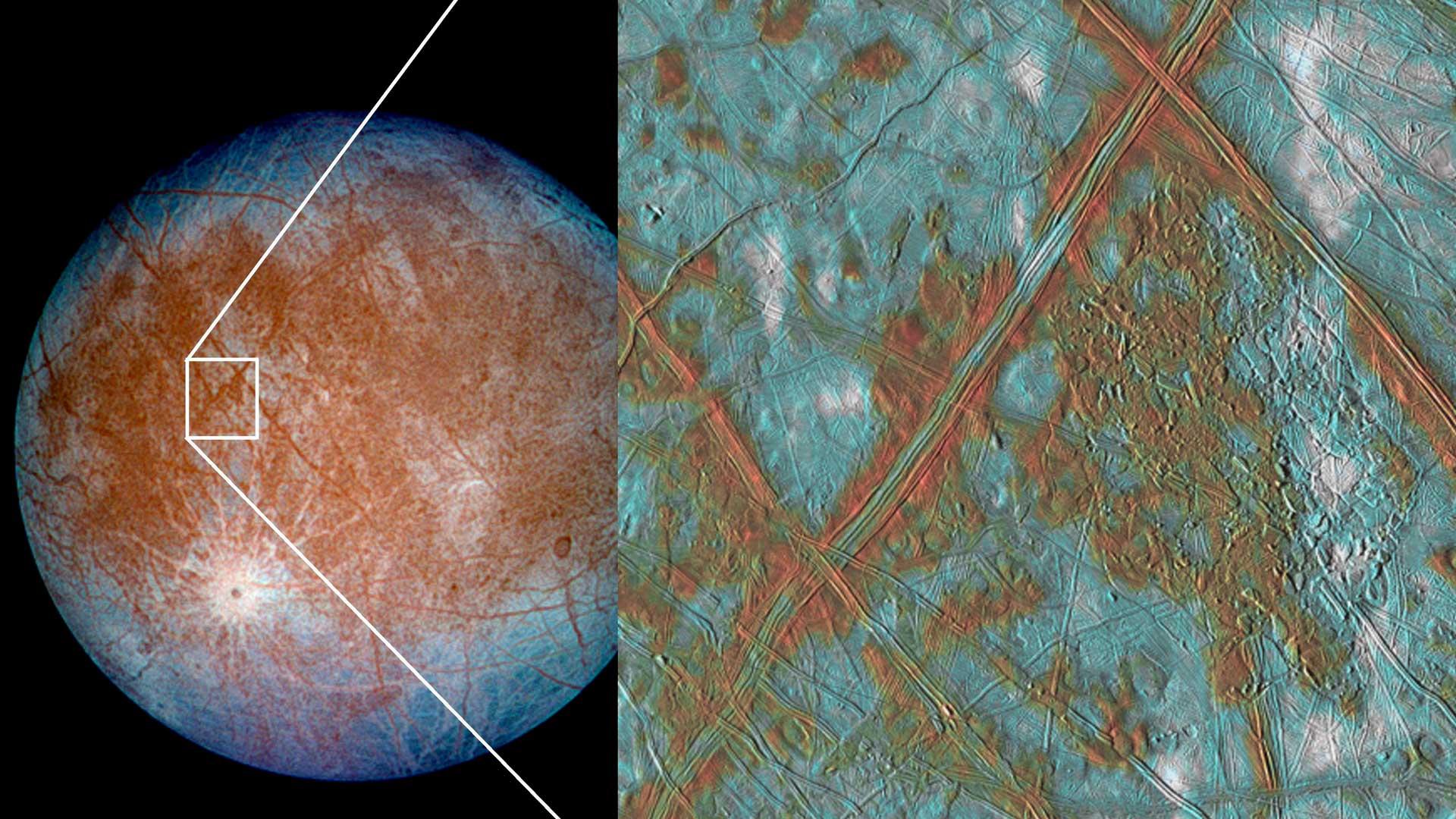 Nuevos datos sobre Europa. La luna de Júpiter que podría tener vida según la NASA