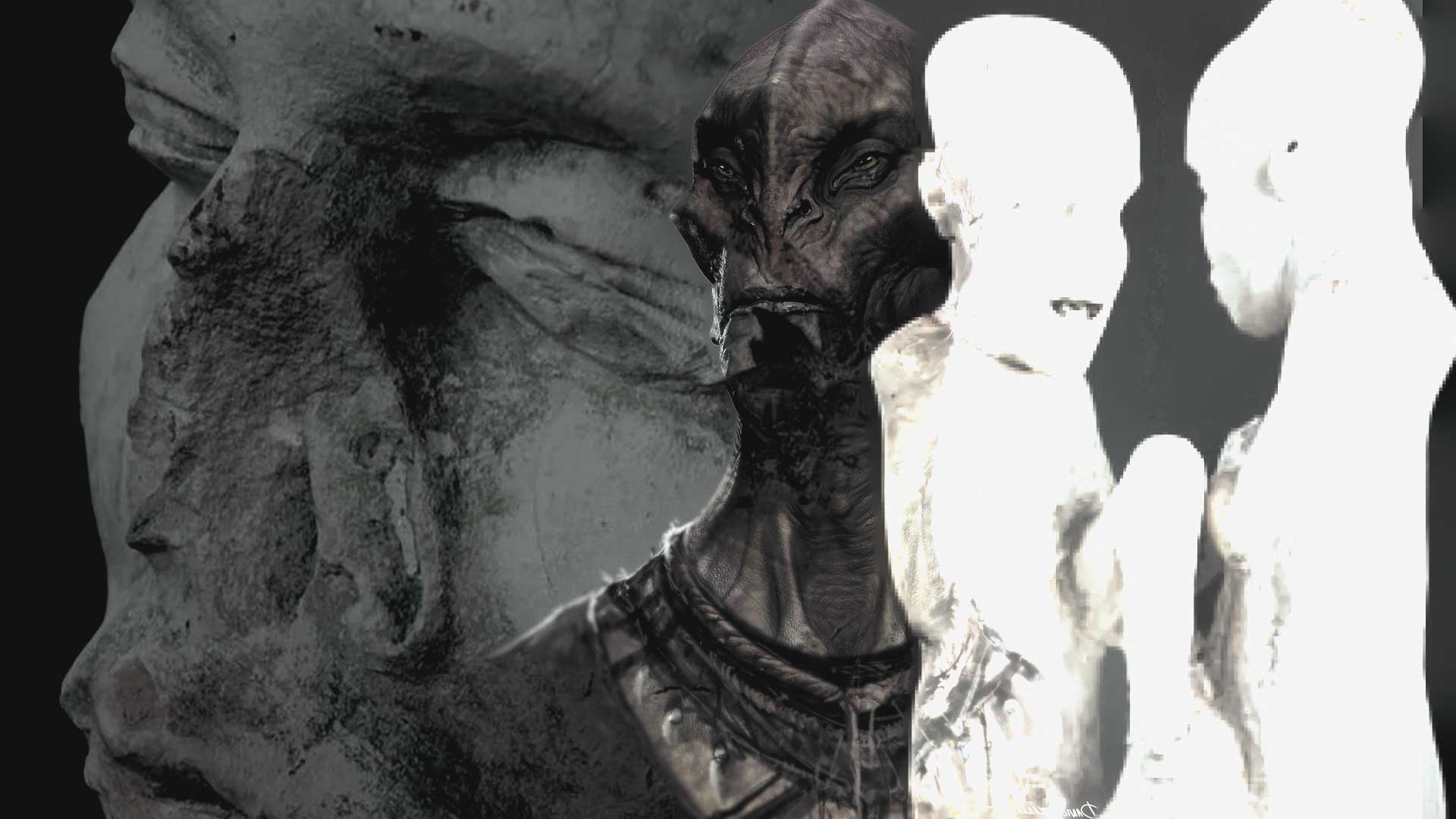 Extraterrestres en el antiguo Egipto, las figuras de Saqqara