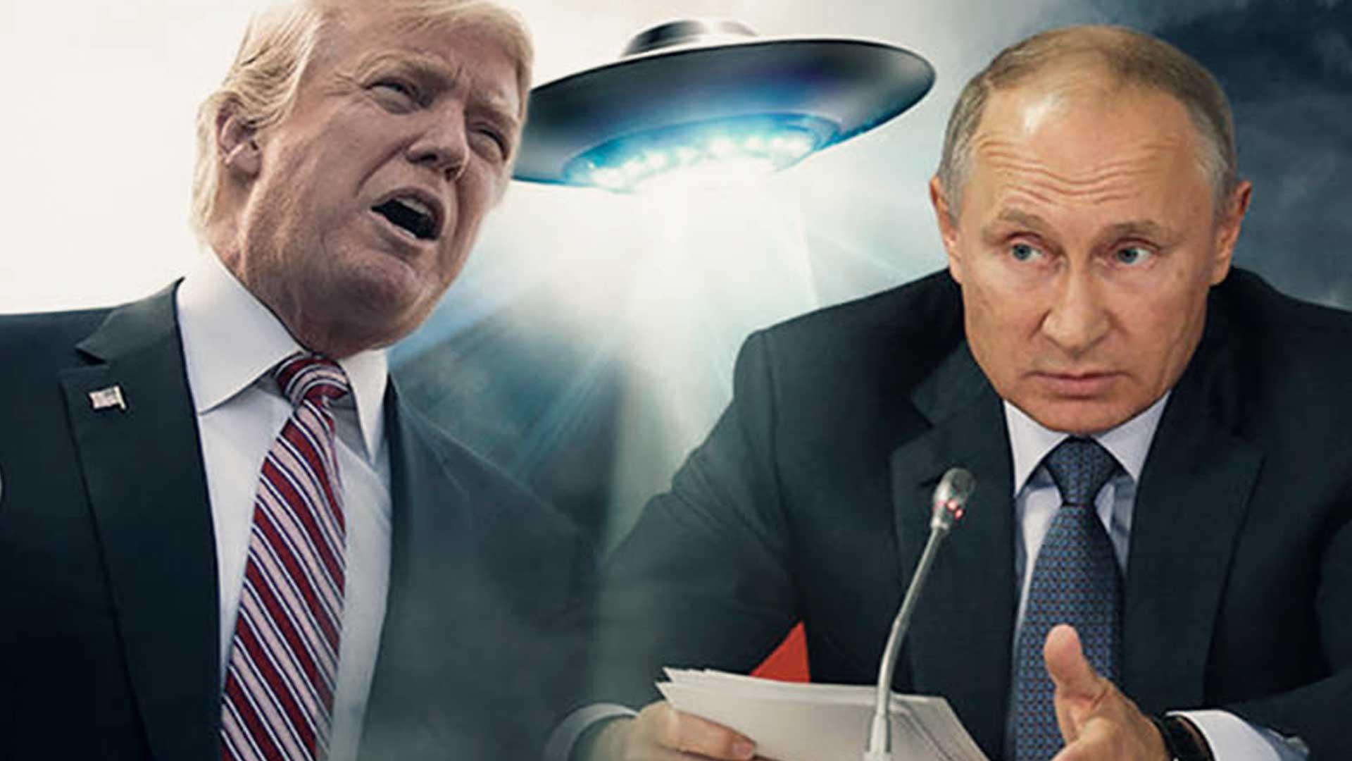 Trump y Putin ¿una reunión para luchar contra los extraterrestres?
