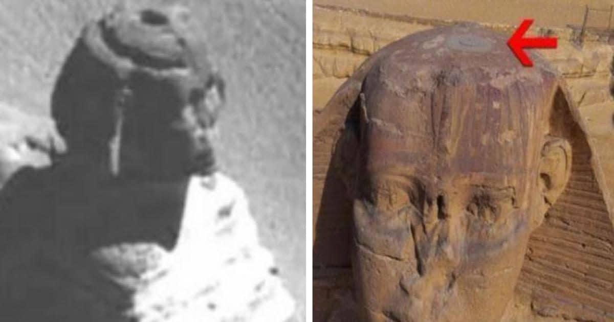 Los misterios escondidos bajo el agujero en la cabeza de la Gran Esfinge de Guiza