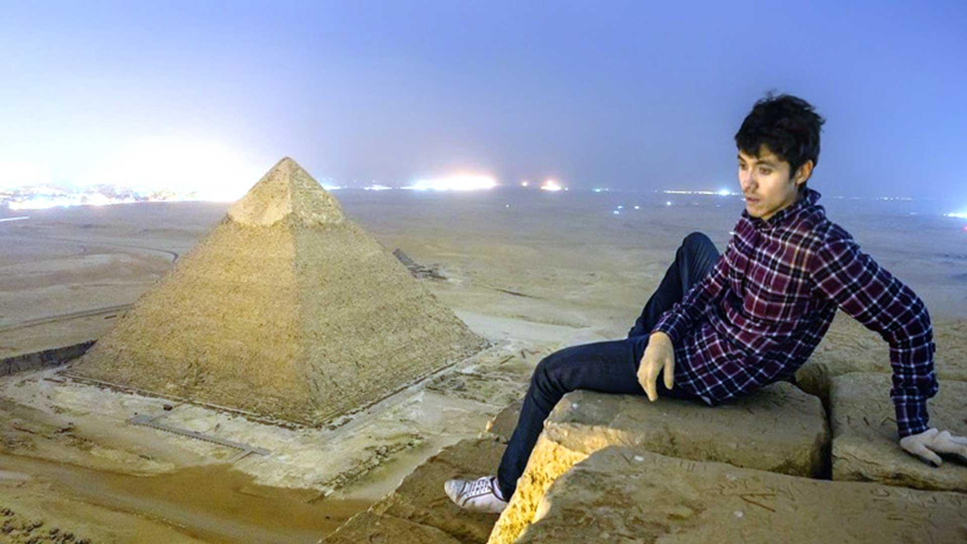 Imágenes únicas y prohibidas desde la cima de la Pirámide de Guiza