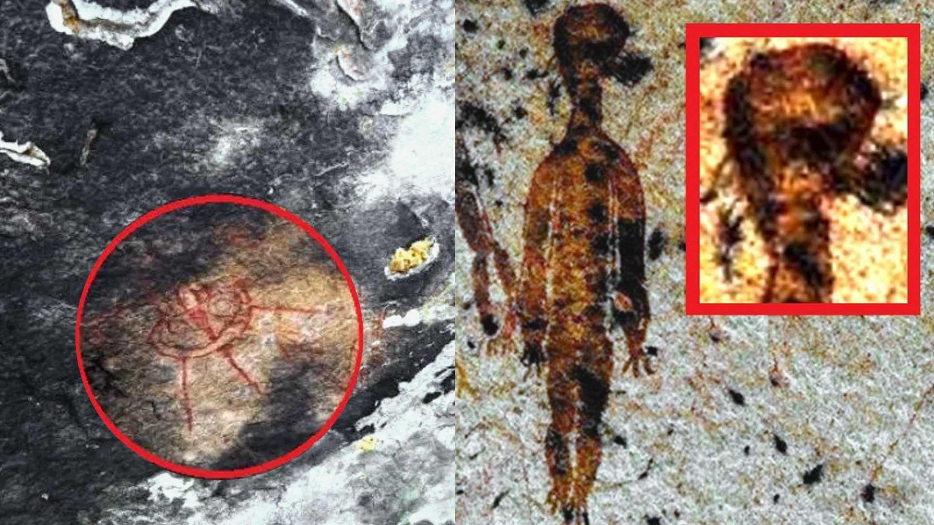 Pinturas rupestres muestran alienígenas en India con más de 10.000 años