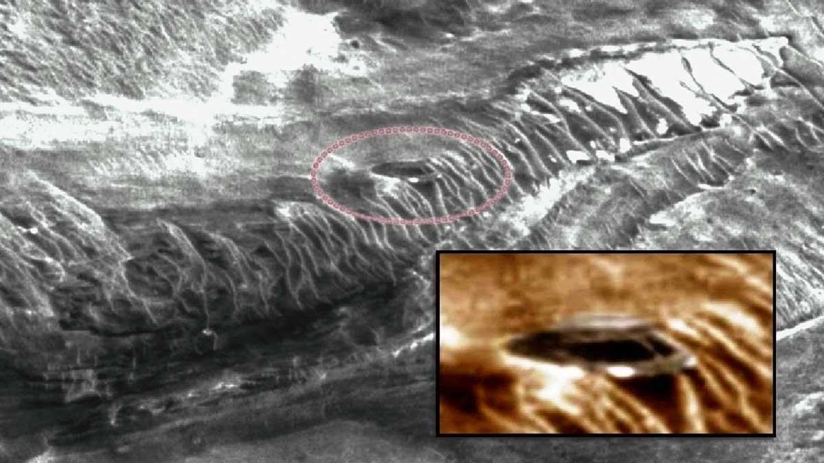 Investigador asegura haber encontrado estructura secreta en Marte