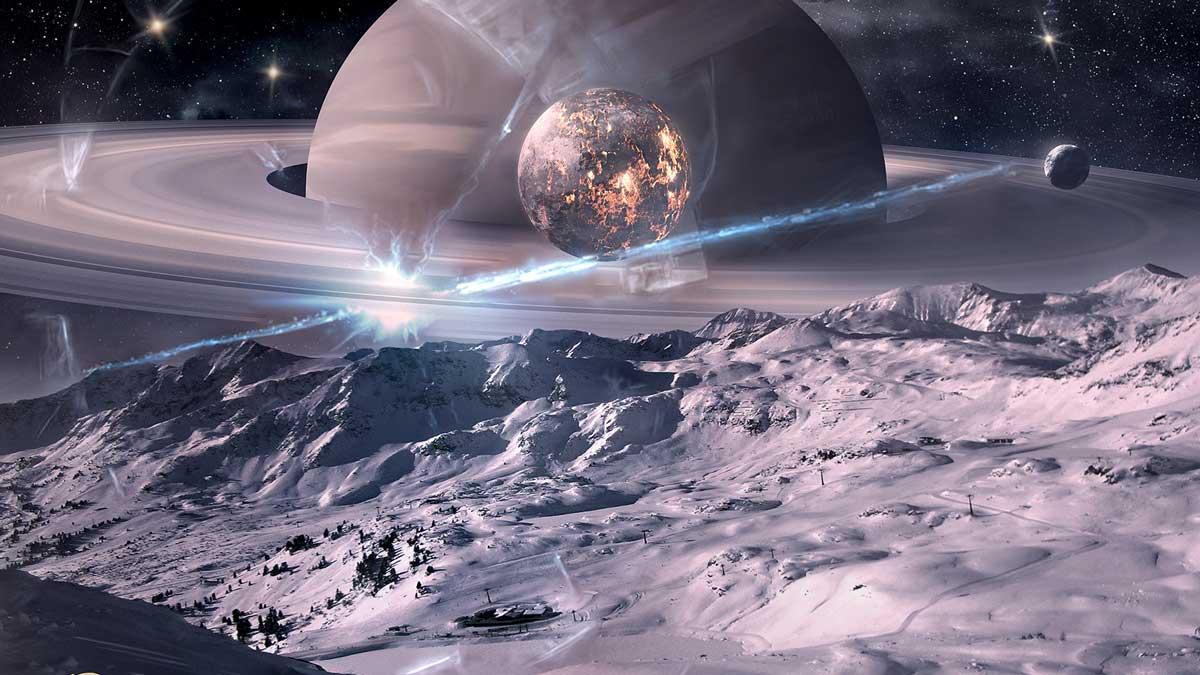 Extraño objeto parece abrir un portal cerca de Saturno y es captado en vídeo por experto