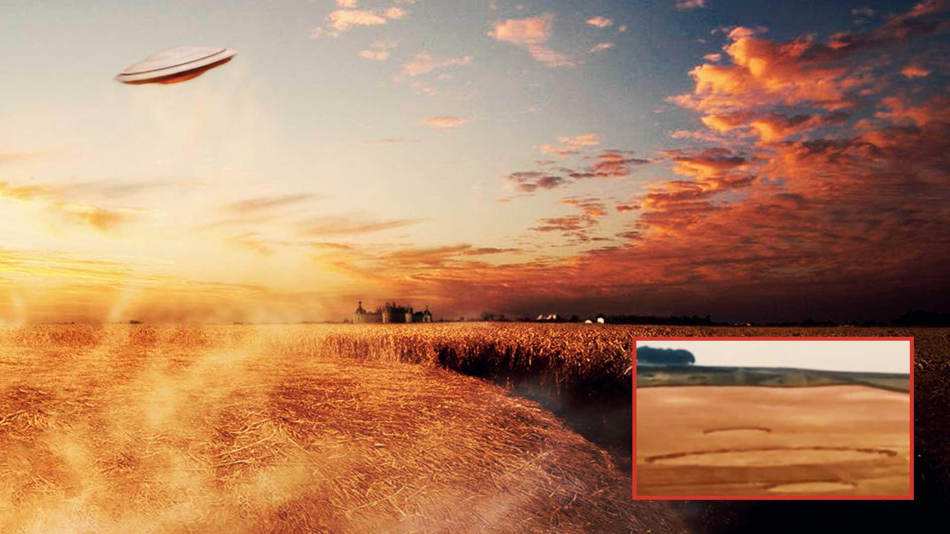 Capturan en vídeo un mensaje extraterrestre en forma de Crop Circle