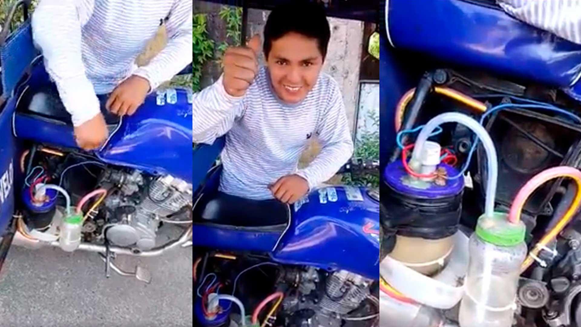 Joven Ingeniero peruano impulsa una mototaxi con agua en vez de combustible