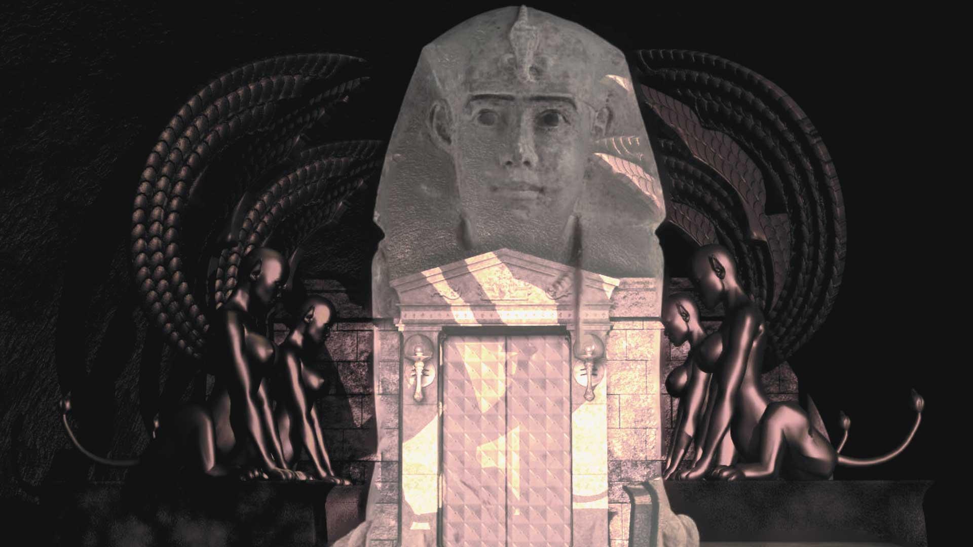 Arqueólogos descubren otra Esfinge enterrada en el Templo de Kom Ombo