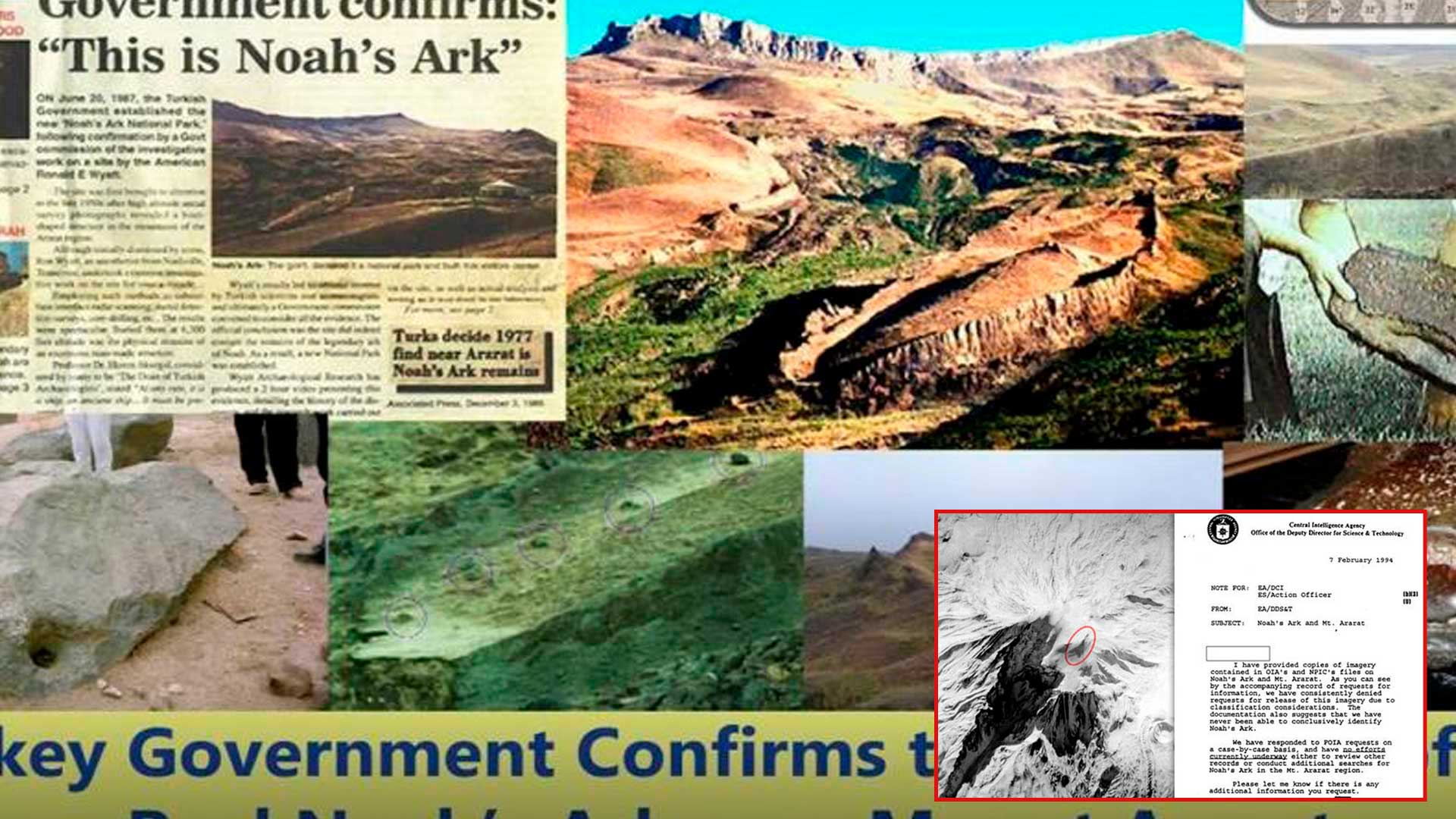 CIA investigó en secreto descubrimientos del Arca de Noé