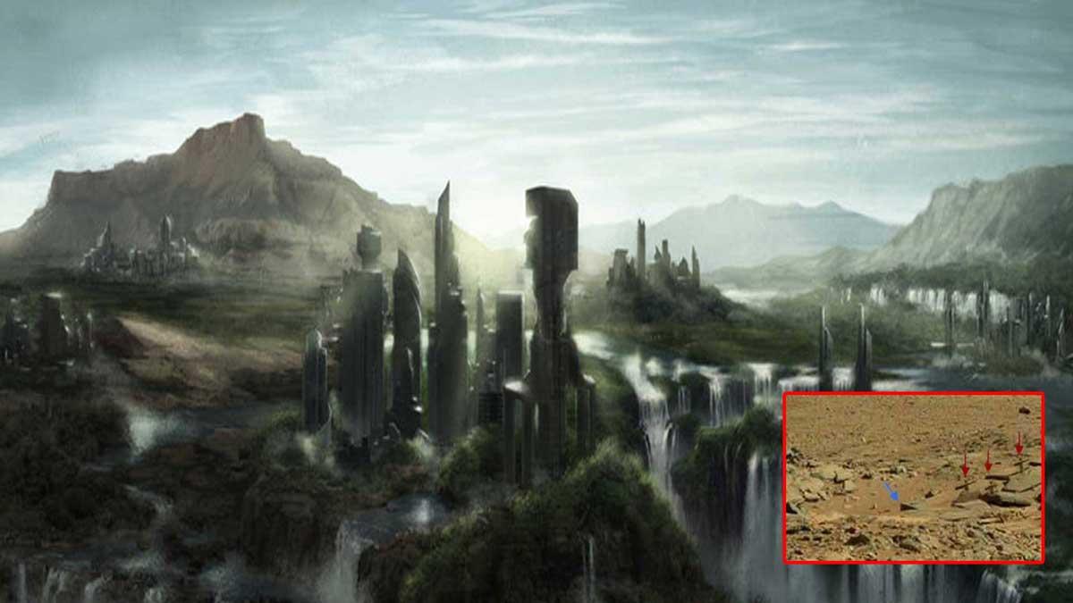 Estas imágenes de la NASA muestran una civilización antigua en Marte