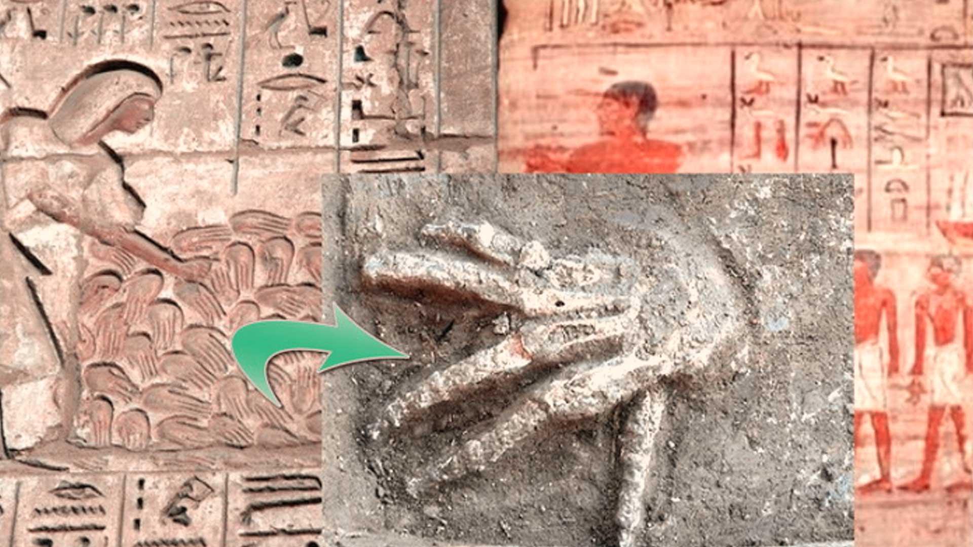 Egipto, hallan 4 extraños pozos llenos de manos gigantes