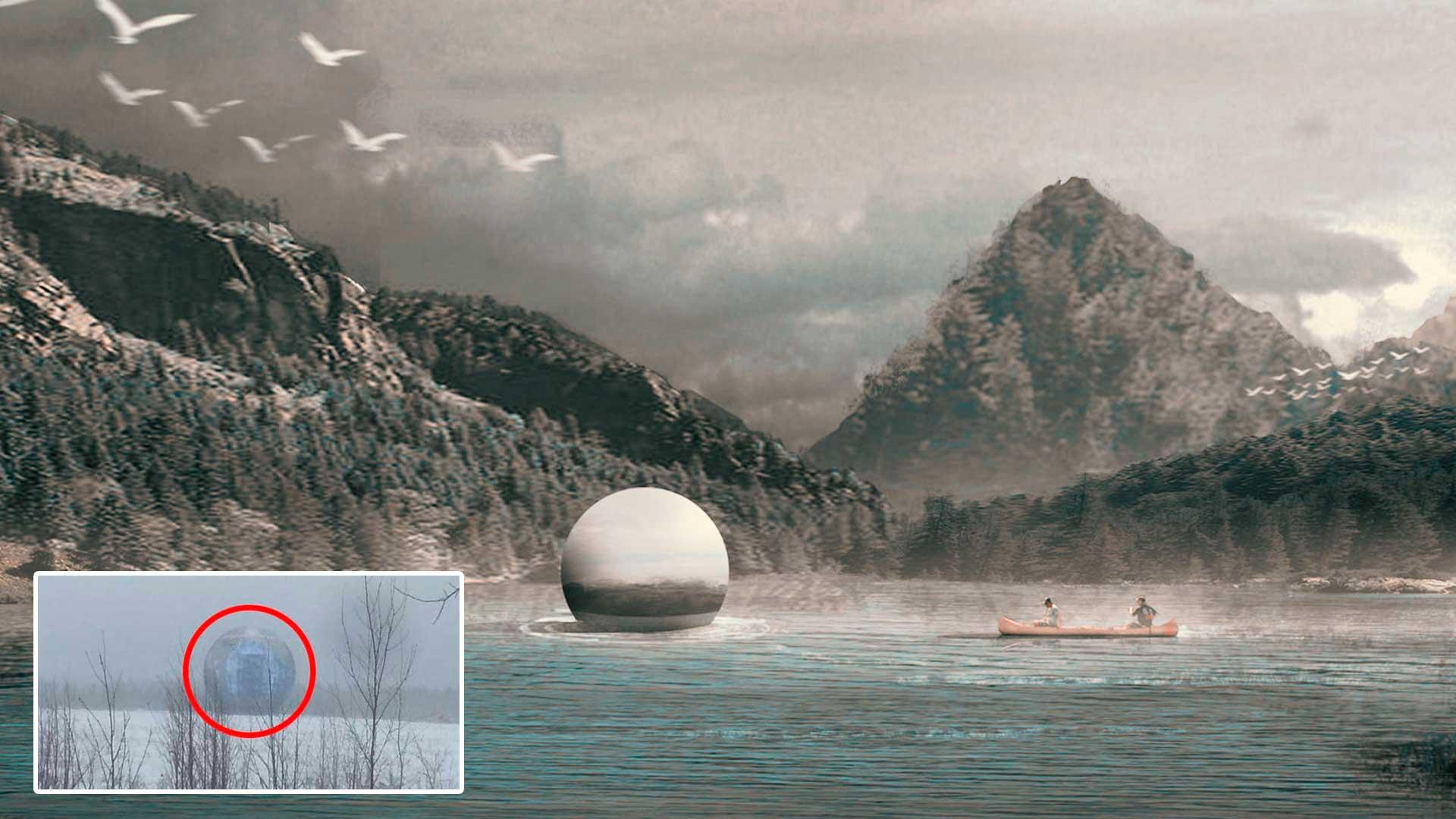 Gigante esfera extraterrestre es grabada en Siberia