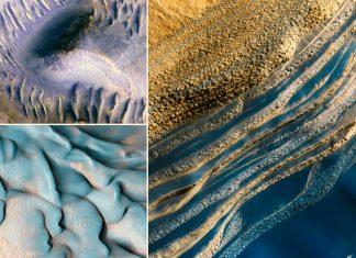 Imágenes nunca vistas de Marte, fotografiados por la cámara HiRISE de la NASA