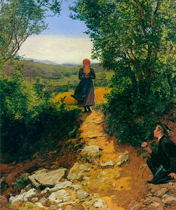 ¿Esta mujer sujeta un smartphone en esta pintura de hace 150 años?