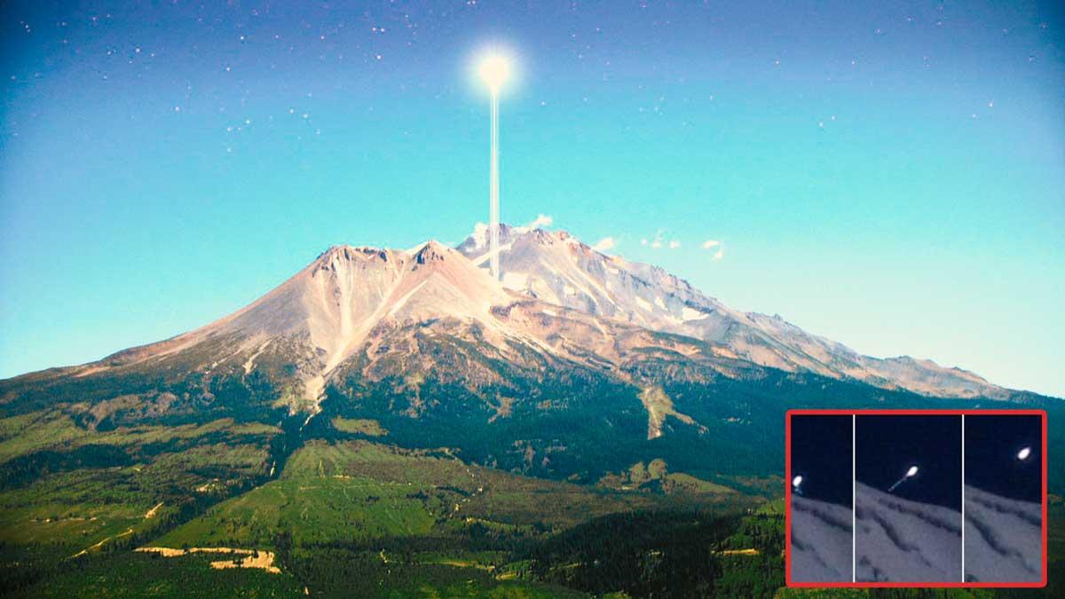 Enorme OVNI es fotografiado en el Monte Shasta, California