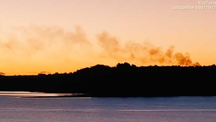 Una mujer captura en vídeo OVNI sobrevolando un lago en Australia