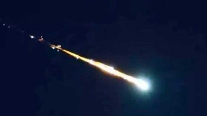 Reporte fotográfico: enorme meteorito cae en Uruapan, México