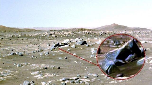 Escombros del objeto estrellado capturados por el Perseverance Mars Rover