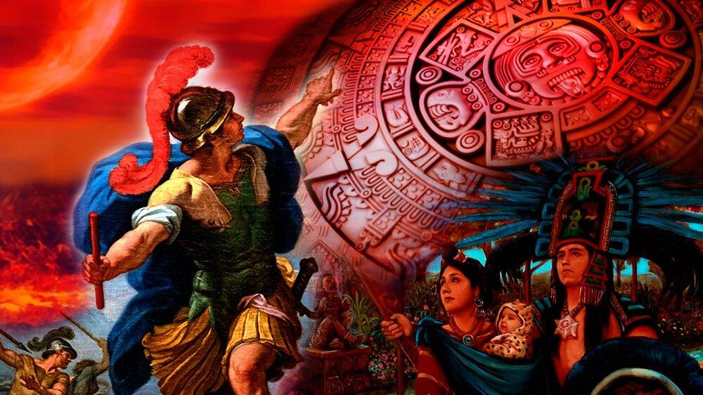 Collage de imágenes de origen extraído de wikimedia.org, Deliciasprehispanicas.com y Hipwallpaper.com