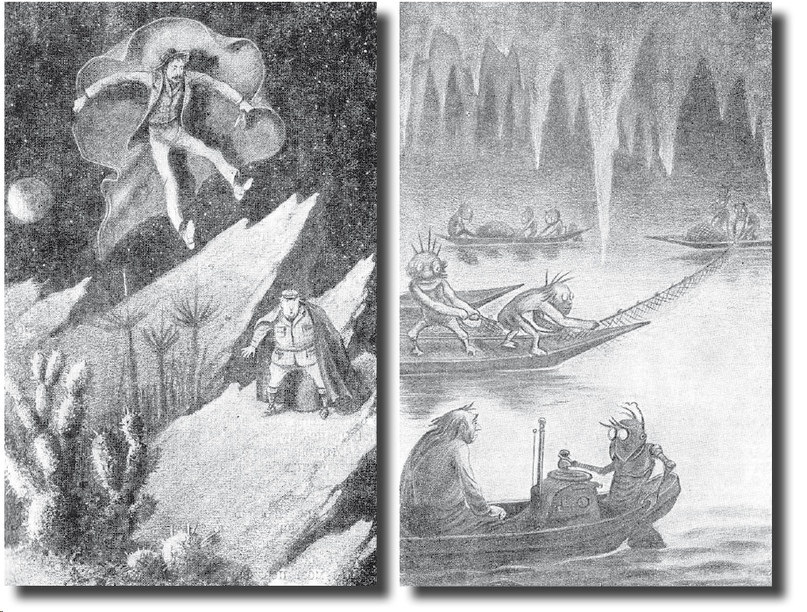 """Entre los selenitas (ilustraciones para la novela de HG Wells""""Los primeros hombres en la luna"""")"""