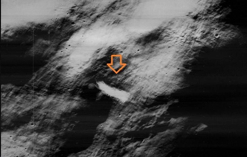 Evento lunar de corta duración: un objeto extraño sobre la superficie lunar
