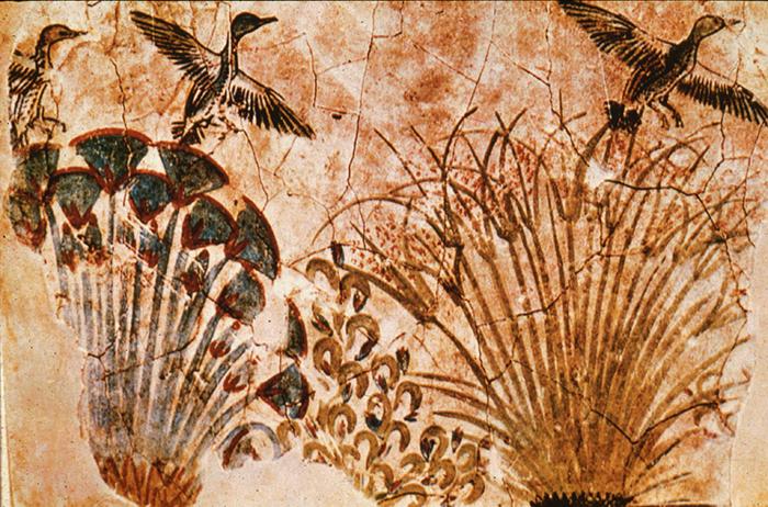 Las imágenes naturalistas de plantas y pájaros son evidencia de la destrucción del canon.