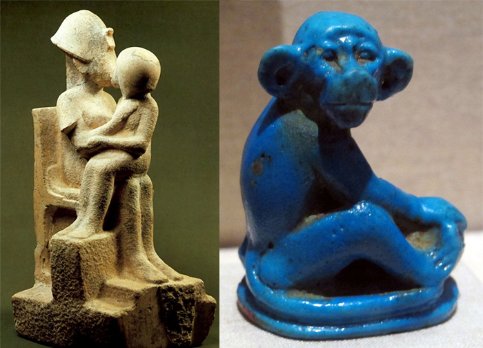 Una escena familiar y un animal divertido. El carácter de la escultura se vuelve cada vez más secular.