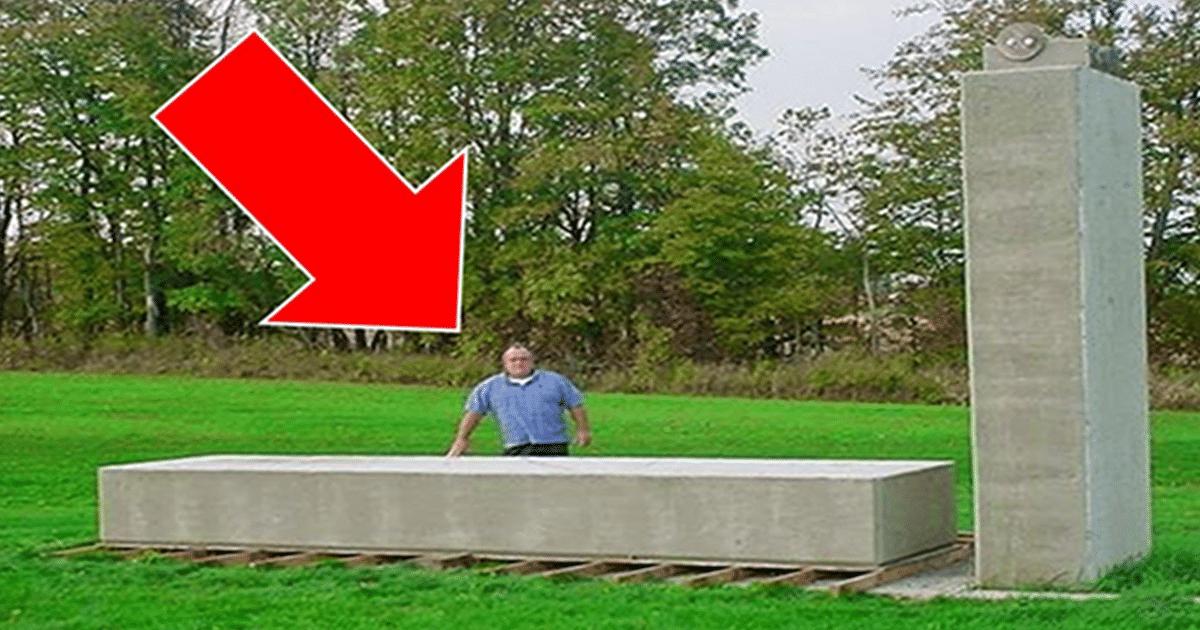 Esta es una tecnología antigua olvidada: el hombre levanta un bloque de 20 toneladas a mano