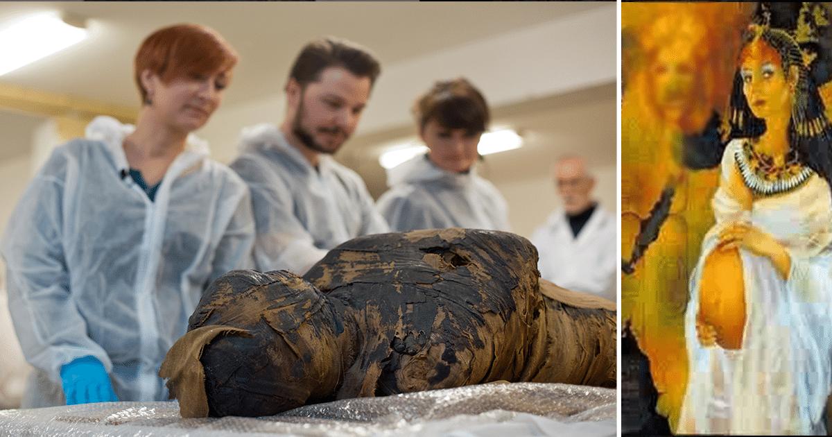 Los arqueólogos han descubierto la primera momia embarazada antigua en Egipto