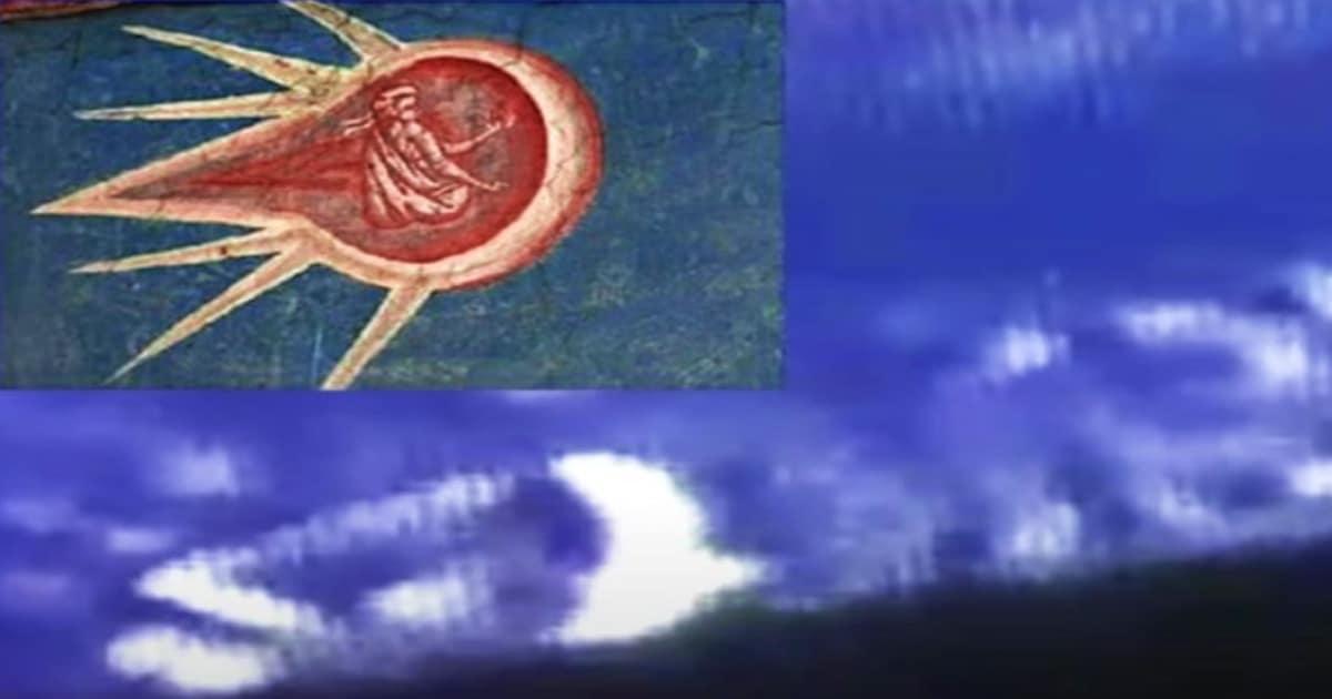 OVNI, similar al objeto de la imagen bíblica, voló justo debajo de la Estación Espacial Internacional.