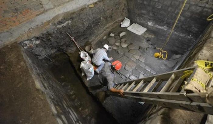 Sitio de excavación.