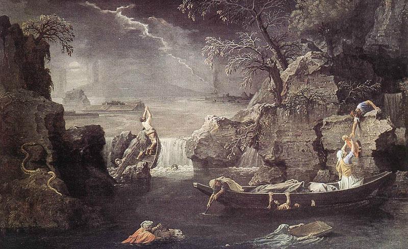"""""""Invierno. Inundación global"""". Nicolas Poussin."""