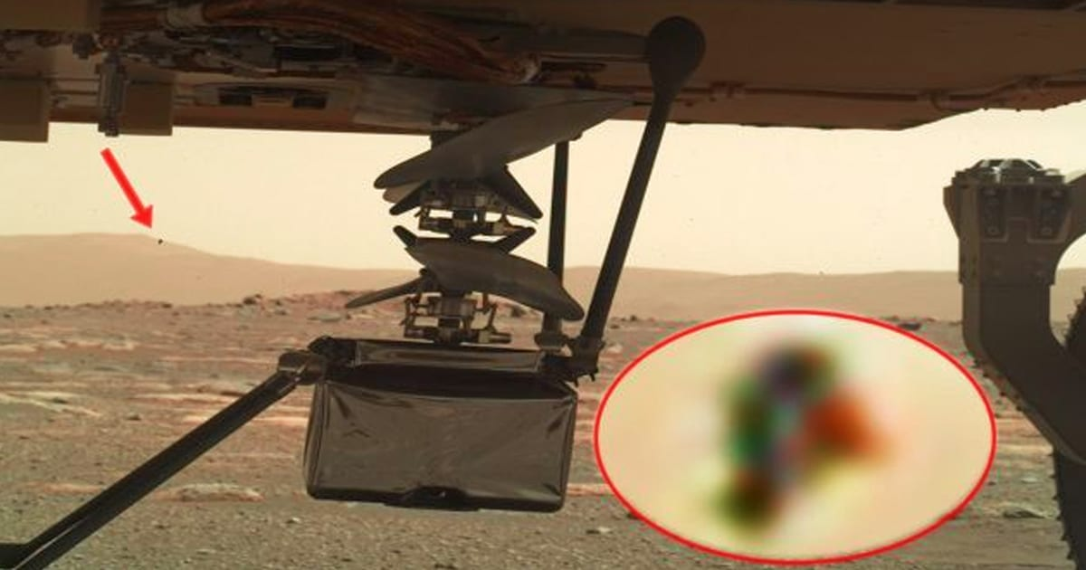 Algo muy extraño está observando el helicóptero Ingenuity Mars