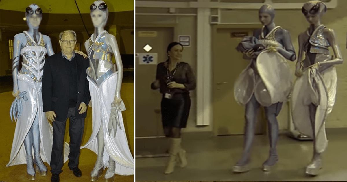 Dos hembras alienígenas nórdicas de 10 pies de altura han sido vistas en Rusia (VIDEO)