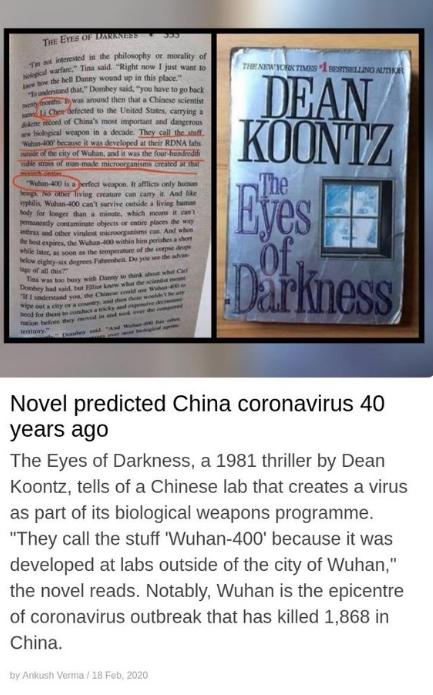 Se planeó el coronavirus: una sinopsis de coincidencias diabólicas 2